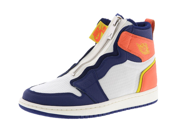 Air Jordan 1 Retro High Zip Blue Void Turf Orange (Women's)  AQ3742-100 - LTD Sneakers & Wear