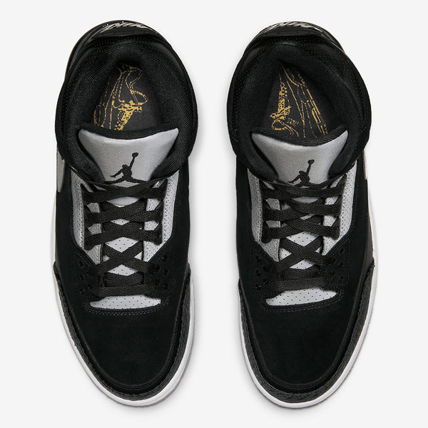 Jordan 3 Retro Tinker Black Cement Gold   CK4348-007