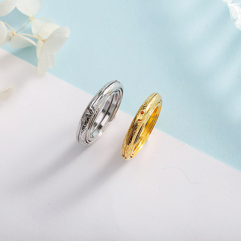 Astronomical Ball Ring Universe Ring