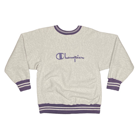 Reverse Weave Embroidered Champion Crewneck