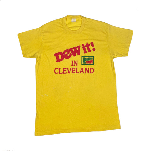 "1970s Single Stitch ""Dew It In Cleveland"" Mountain Dew Tee"