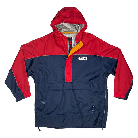 Vintage Fila Half-Zip Hooded Jacket