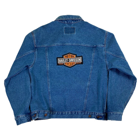Vintage Harley Davidson Motorcycles Route 66 Denim Jacket