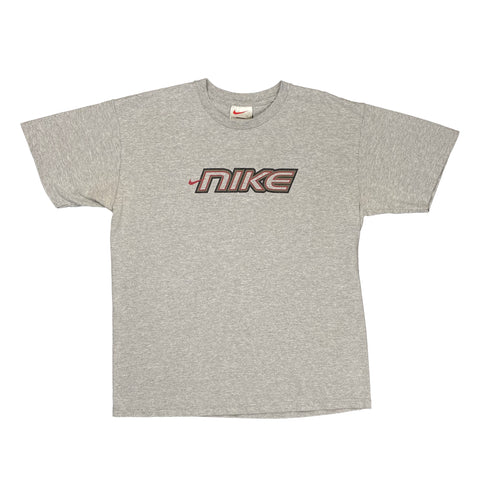 Vintage 1990's Nike White Tag Grey Graphic Tee