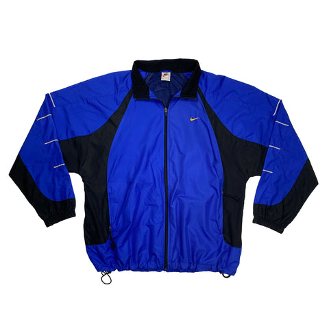 Vintage 1990's Nike Full-Zip Dark Blue Windbreaker