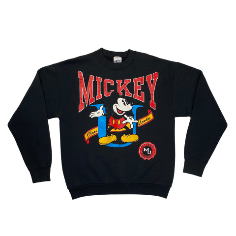 "1980's Mickey & Co.""Mickey University"" Graphic Crewneck"
