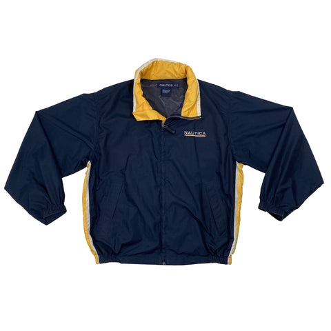 Vintage Nautica Full-Zip Navy Windbreaker