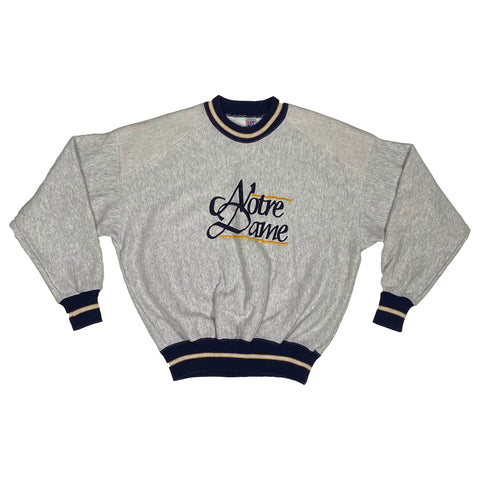 Vintage Notre Dame Embroidered Crew