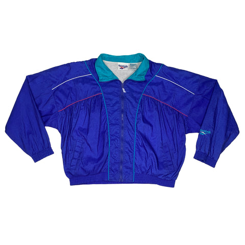 Ladies Vintage Reebok  Full-Zip Windbreaker