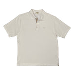 Vintage Burberry Embroidered White Polo