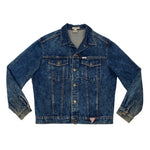 Vintage 1980's GUESS George Marciano Dark Wash Denim Jacket