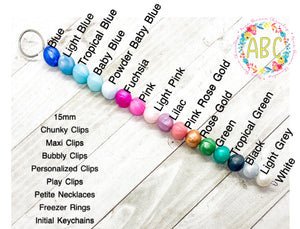 Pacifier Clips: Custom