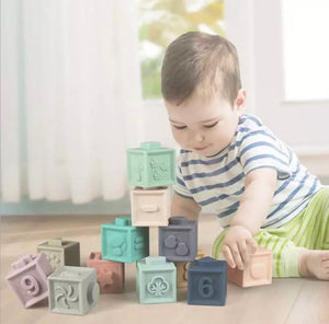 12 Piece Silicone Stacking Blocks