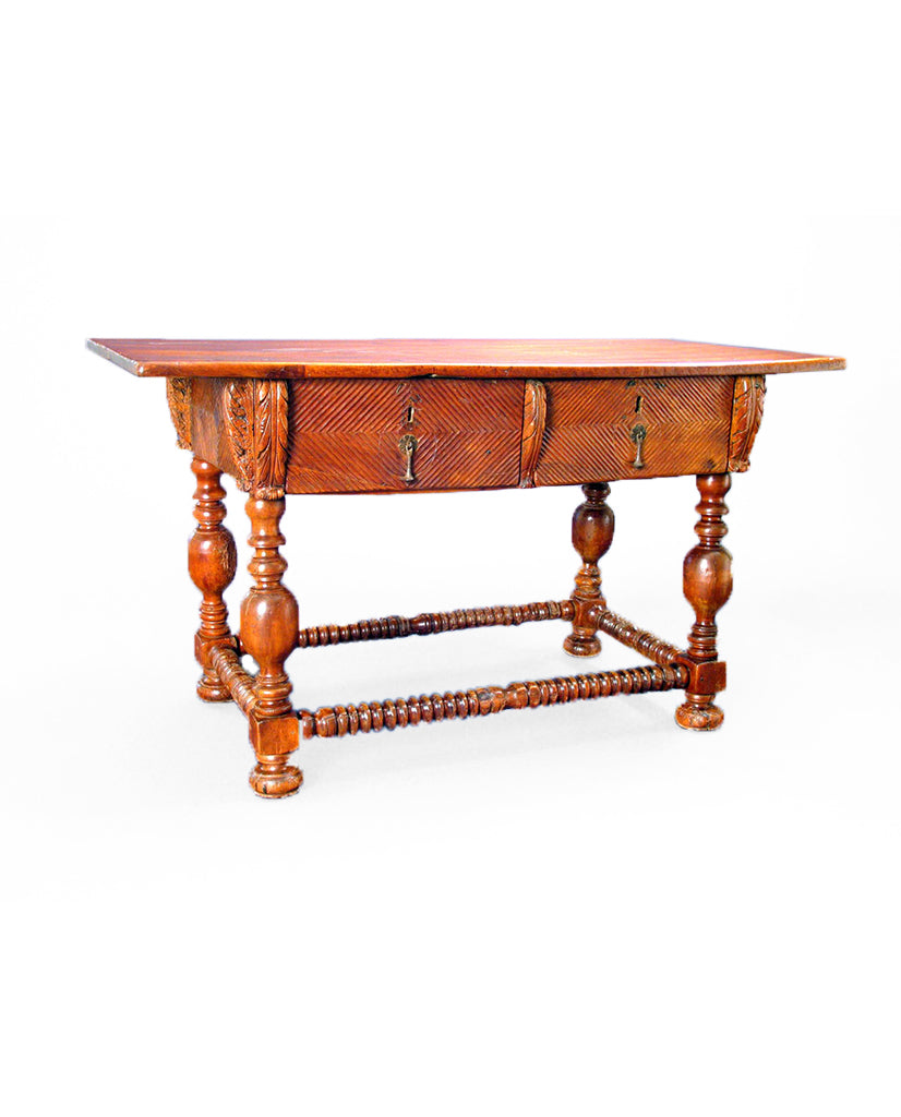 PORTUGUESE BAROQUE  CHESTNUT TABLE
