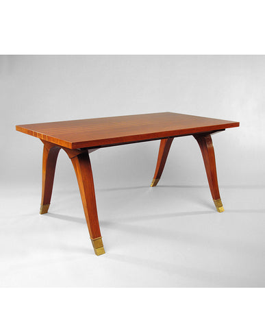 ROSEWOOD AND BOXWOOD INLAID TABLE