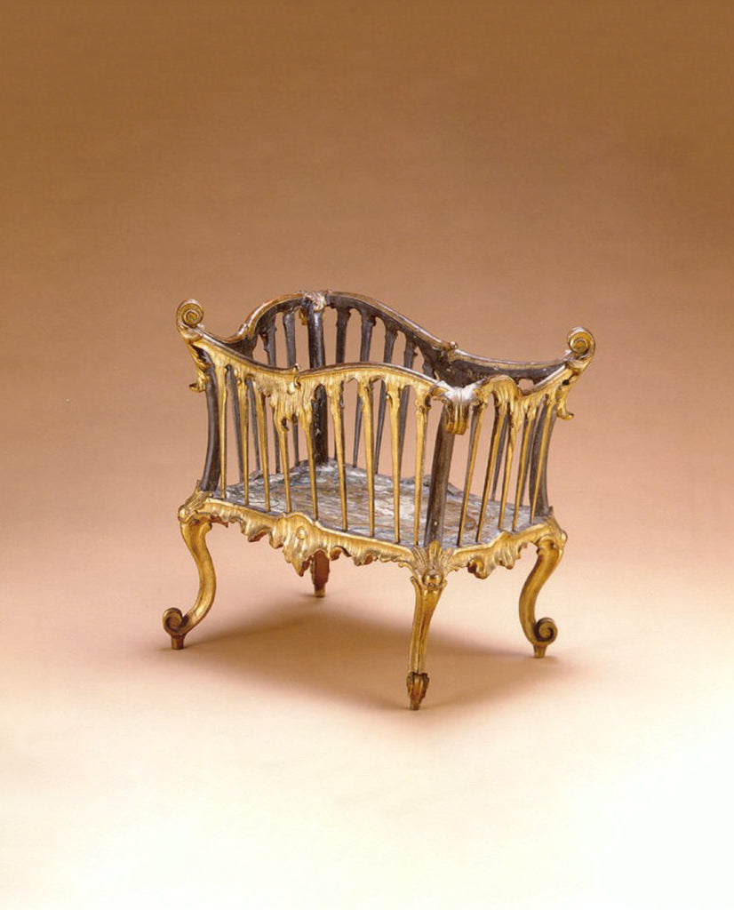 VENETIAN ROCOCO PAINTED AND PARCEL GILT PORTALEGNA
