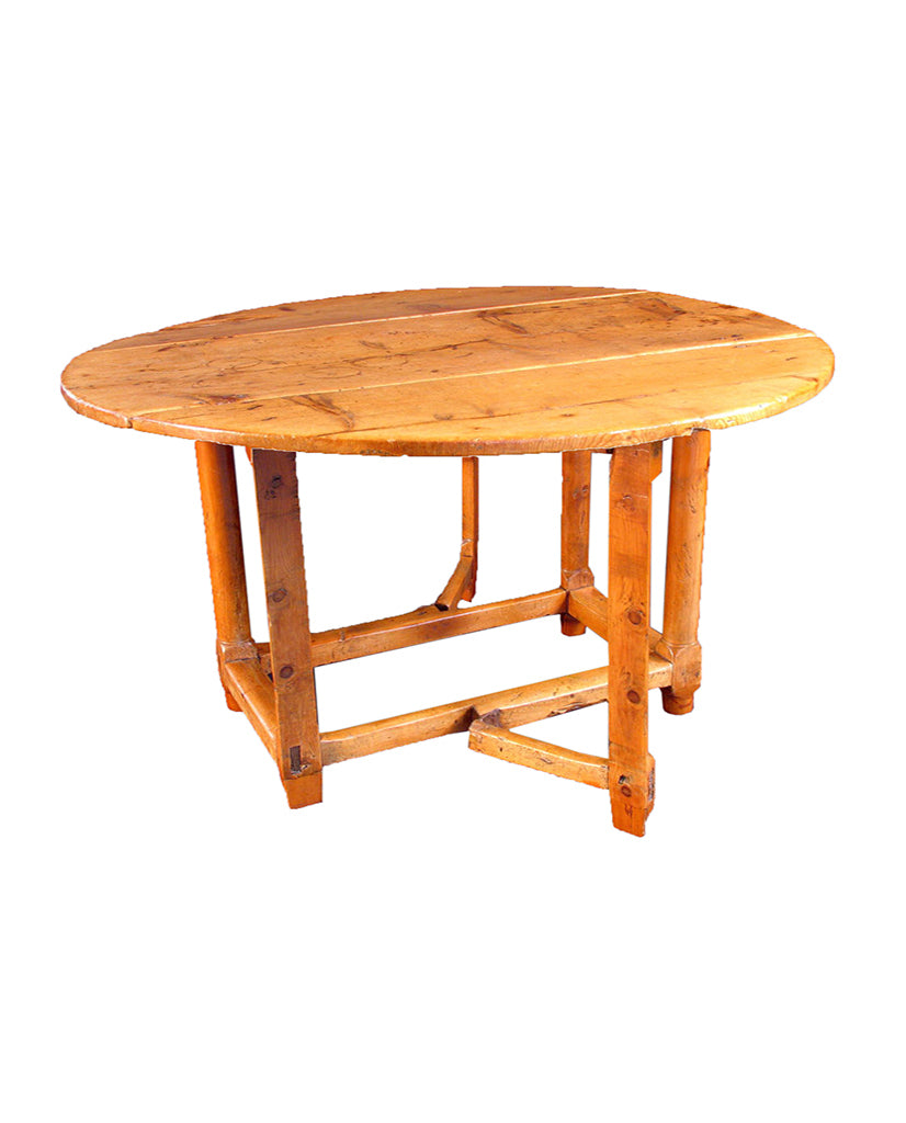 CATALONIAN PINEWOOD DROP-LEAF TABLE