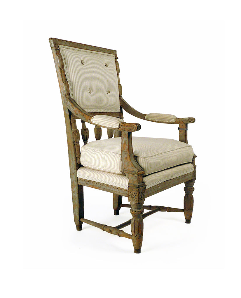 SWEDISH NEOCLASSIC  PAINTED ARMCHAIR