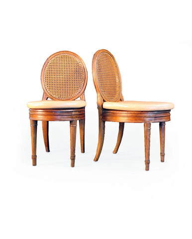 SET OF FIVE LOUIS XVI BEECHWOOD SIDECHAIRS