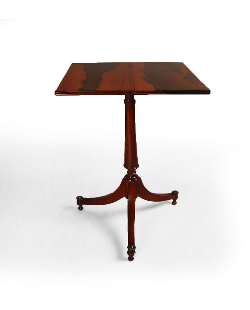 "PORTUGUESE ""REGENCY"" CALAMANDER SIDE TABLE"