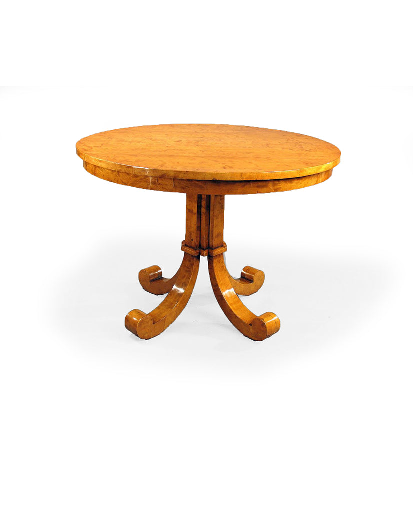 AUSTRIAN BIEDERMEIER BIRCHWOOD CENTER TABLE