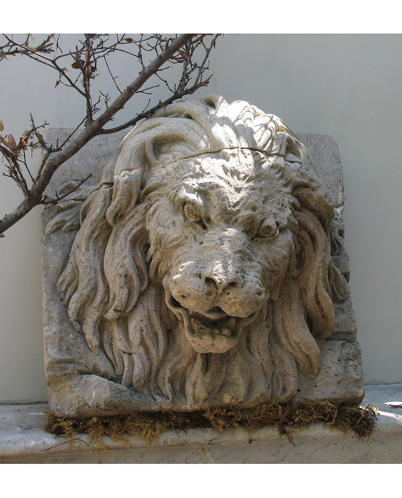 FRENCH CAENSTONE LION'S MASK