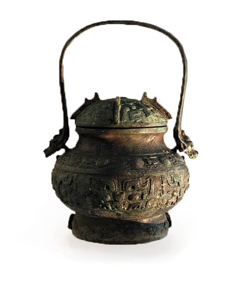 CHINESE ARCHAIC STYLE BRONZE YOU