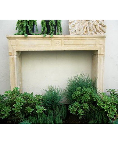 FRENCH NEOCLASSIC CAENSTONE MANTLE