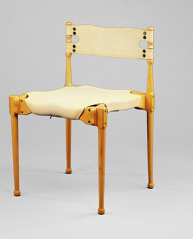 "FREI OTTO ""MONTREAL"" BEECHWOOD AND CANVAS CHAIR"