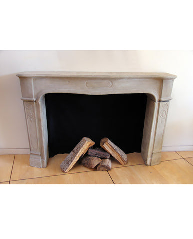 GERMAN BAROQUE SANDSTONE MANTLE