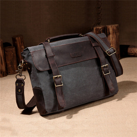 Business Men Leather Briefcase