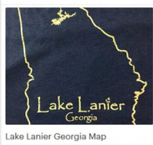 Load image into Gallery viewer, Lake Lanier Georgia MAP