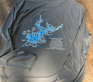 Lake Lanier Map Wicking Short or Long Sleeve