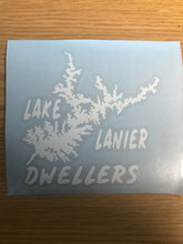 Load image into Gallery viewer, Dweller Lake Lanier Map, Vinyl Window Decal