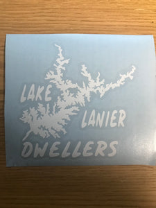 Dweller Lake Lanier Map, Vinyl Window Decal