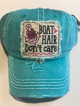 "Load image into Gallery viewer, Ladies Lake Hat ""Boat Hair don't care"""