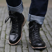 Load image into Gallery viewer, Fashion Autumn Winter Lace-up Roman Style Men Ankle Boots