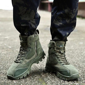 Sale 50% OFF - 2019 Men High Top Special Police Ankles Battle Military Boots