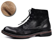Load image into Gallery viewer, High Quality Men's Genuine Leather Martin Boots Retro Style High-top Shoes