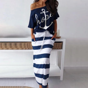 Luna Off Shoulder Sailor 2 Piece Set