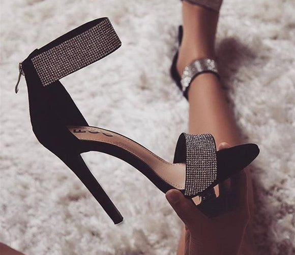 Luna Crystal High Heels