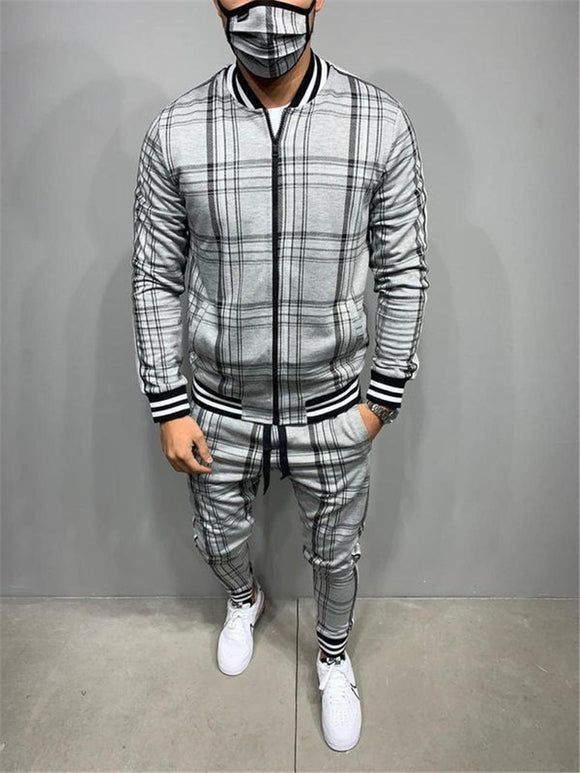 Luna Men's Plaid Tracksuit