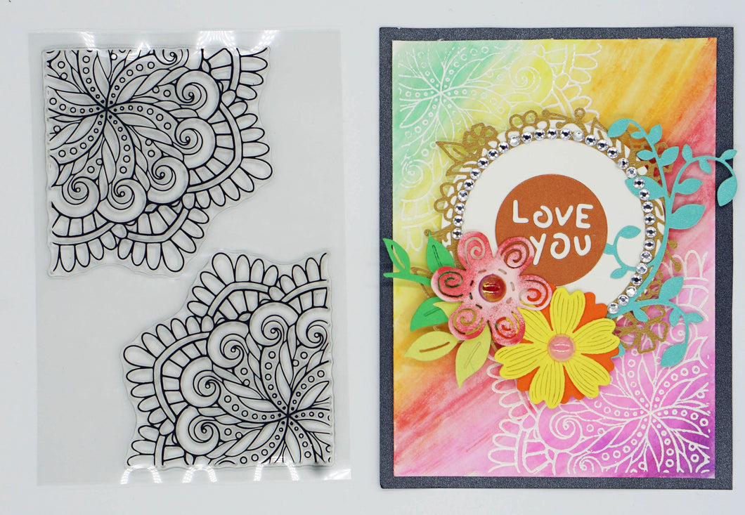 Card Decor Flower Stamps