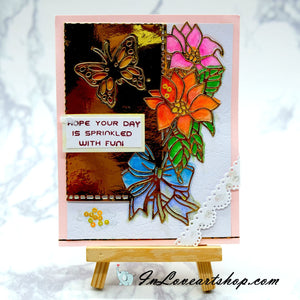 Butterfly and Flower Wishes Card
