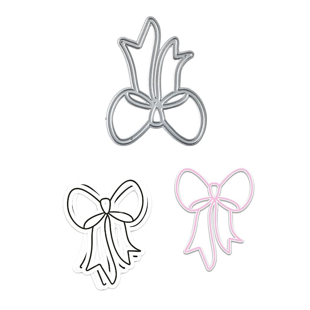 Cute Bow Outline Cutting Dies