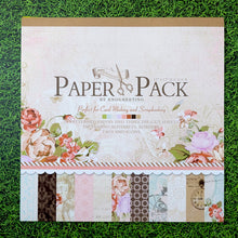 Load image into Gallery viewer, (12 Types) 12 inch Background Pattern Paper With Stickers <24 PCS>