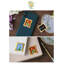 Load image into Gallery viewer, (4 types) DIY Flower Series Embroidery Stickers