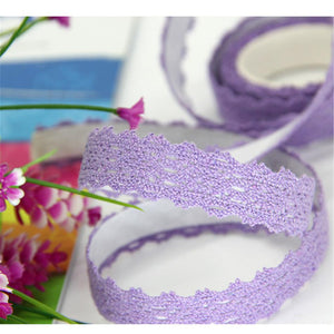 (8 colors) DIY Lace Decorative Stickers 15mm