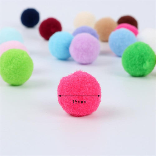 15mm DIY Soft Fluffy PomPon Balls For Cards Hat Clothing Bag Jewelry Decorative (20 colors 100pcs)