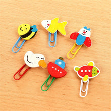 Load image into Gallery viewer, (12PCS)Creative Office& School Supplies Cute Woodiness Cartoon Animals Paper Clips